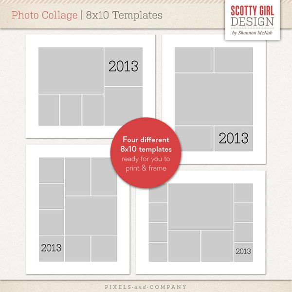 photo collage templates are ready for easy printing and. Black Bedroom Furniture Sets. Home Design Ideas