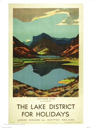 Lake District Vintage Travel Print