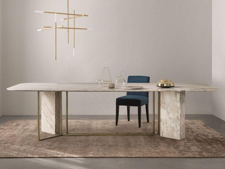 PLINTO Rechteckiger Tisch by Meridiani Design Andrea Parisio