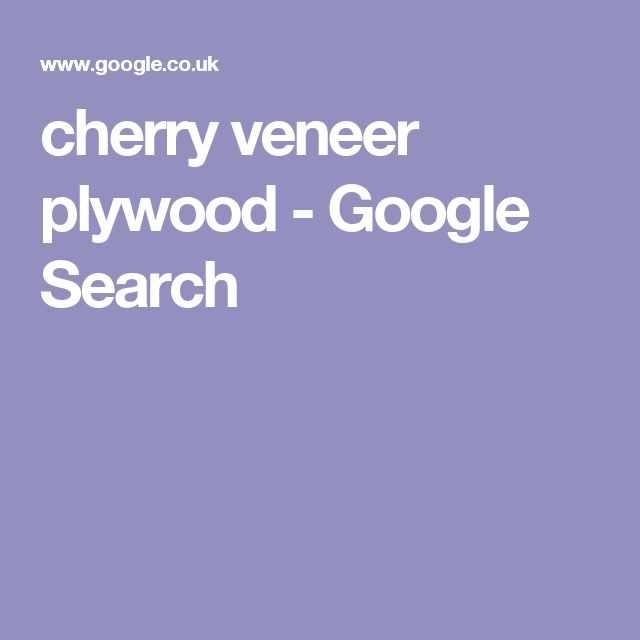 cherry veneer plywood - Google Search