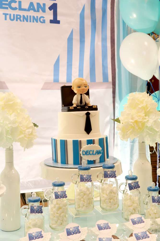 Baby Boss Theme Birthday Party Ideas Boss Baby Alvah