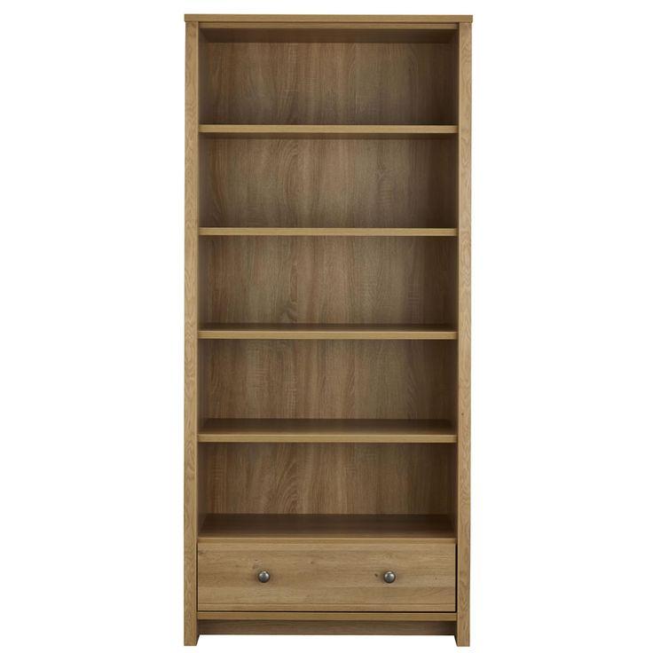 Clovelly Large Bookcase Rustic Oak