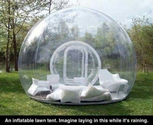 inflatable lawn tent... perfect for rainy days! omg I must have!!! ❤❤❤❤❤❤