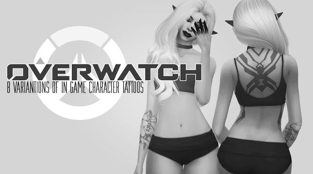 Sims 4 CC's - The Best: Overwatch Tattoos by ValhallanSim