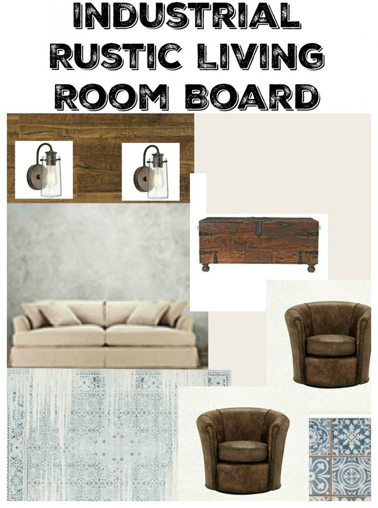 Industrial Rustic Living Room Board