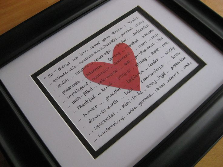 Personalized Friend Gift 5 X 7 Print With Your Words
