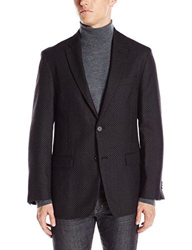 Tommy Hilfiger Men's Bray 2 Button Dotted Unconstructed Sport Coat