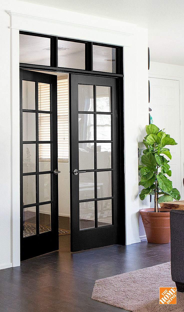 Wonderful Installing French Doors With A DIY Transom Window