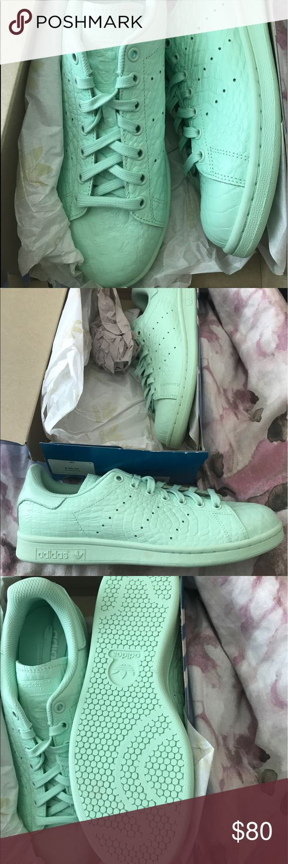 Brand New Mint Green Adidas Stan Smith Sneakers Brand New only wore them to try them on mint green Stan smiths from adidas adidas Shoes Sneakers