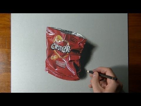 How I draw an empty potato chips bag - Marcello Barenghi