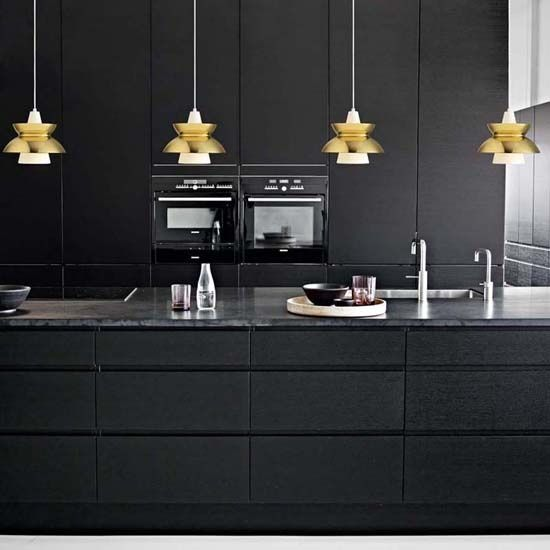 17 best images about black white gold kitchen on pinterest for Black and gold kitchen