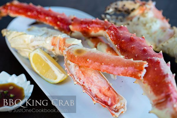 BBQ King Crab with ponzu - Great Deals at www.AlaskaKingCrabs.com