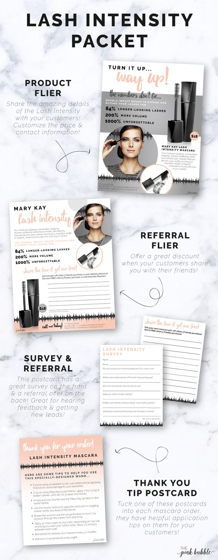 Mary Kay Lash Intensity Mascara Packet! Custom Product Flier, Custom  Referral Flier, Survey