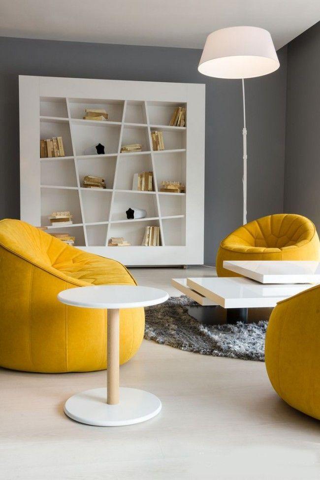 HappyModern.RU | Желтый цвет в интерьере (64 фото): солнечная палитра для дома | http://happymodern.ru