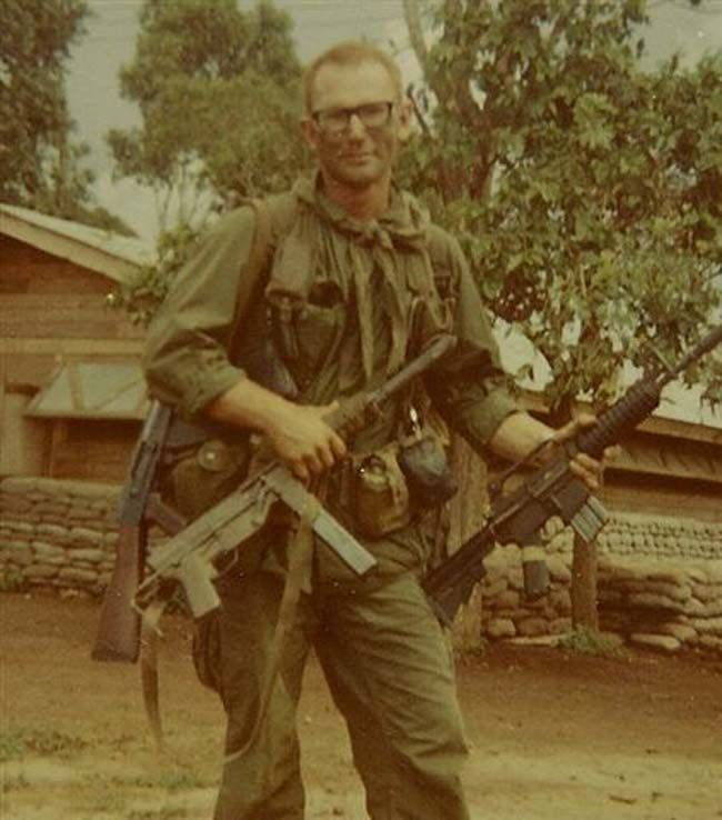 South Vietnamese Military showing off captured weaponry in