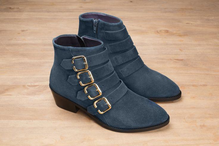 Sofia velours bleu pétrole #anaki #shoes #boots #bottines #vintage