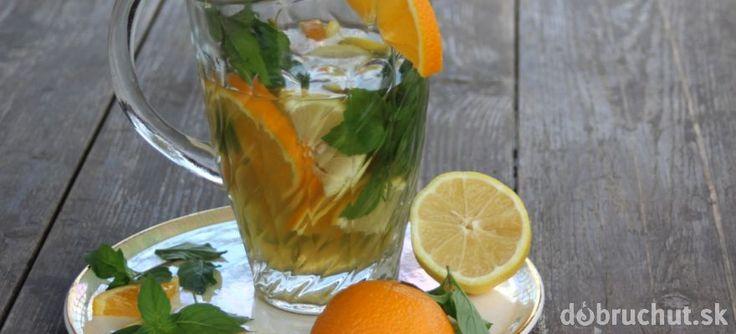 Zelený ľadový čaj s príchuťou mäty