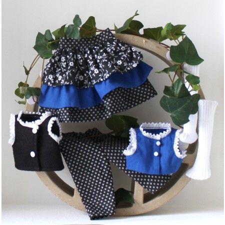 ensemble de poup e tricoter flora poup e poup e. Black Bedroom Furniture Sets. Home Design Ideas