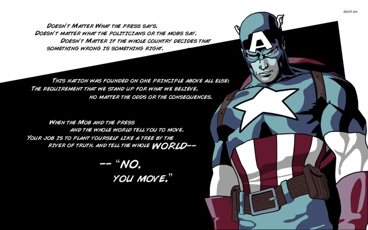 Captain America sayings