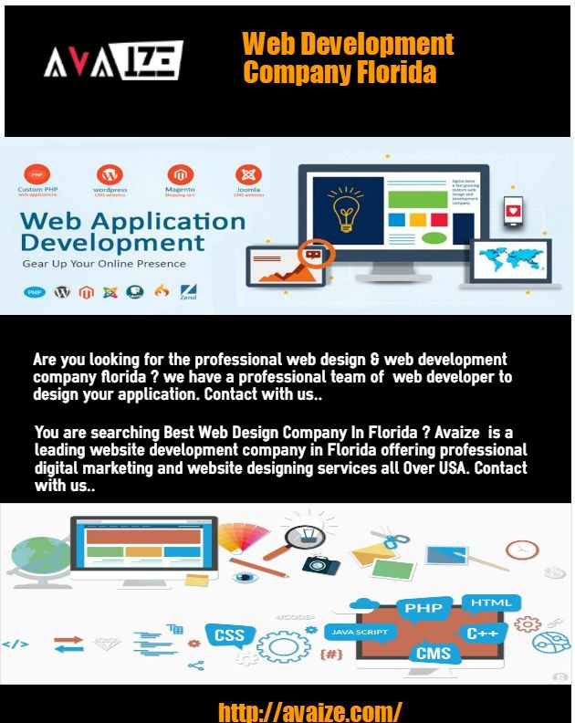 Avaize Is A Best Web Development Company Florida Our Team Has Exceptional Experience Across A Web Development Company Web Development Professional Web Design