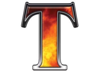 Weston Signs Inc :: Letters and Numbers :: Real Fire :: Reflective Letter T with Real Fire