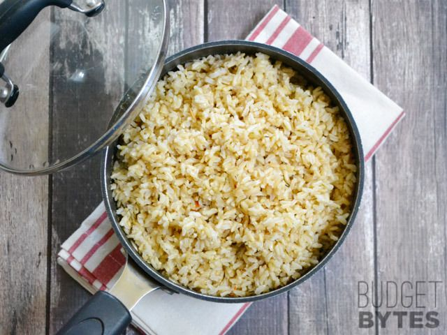 This all-purpose seasoned rice is infused with garlic and herbs, which makes it the perfect base for a many different meals. SNAP Challenge recipe.