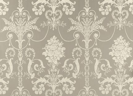 Josette Pewter Grey Patterned Wallpaper