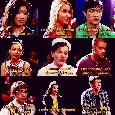 """Glee Club will never end, Mr. Schue, because you are Glee Club. And you're in all of us now. (""""Journey To Regionals"""")"""