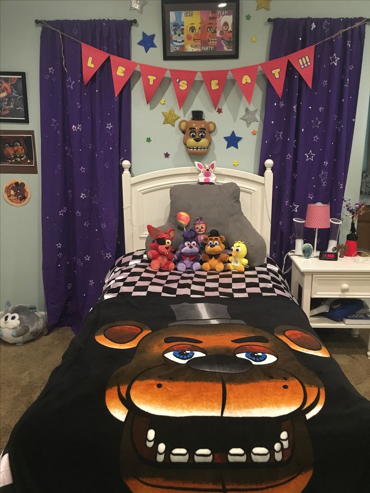 Five Nights At Freddy S Themed Bedroom Awesome Fnaf