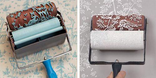 Decorar paredes (dcha.) y textiles (izda.) con rodillos texturizados