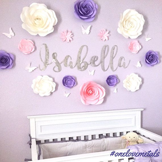 nursery name sign, nursery names, names sign, nursery name art, custom name sign, name sign, nursery, nursery decor, nursery wall art, baby  This extra large name sign metal wall art is a personalized baby name sign and the highlight of any nursery wall decor and makes a great personalized baby gift! This size is intended for display above babys crib or headboard and will be the highlight of the nursery. Custom baby name art makes an amazing baby shower gift.  Do not settle for a baby name…