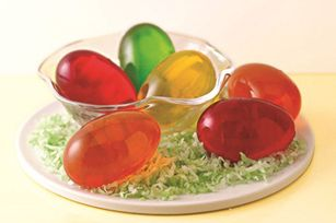 JELL-O EGG JIGGLERS recipe - Whatever you do, don't put all these eggs in one basket. Spread the wealth, and the smiles, by giving 'em to anyone who likes fruity, jiggly Jell-O Gelatin—meaning, everyone. #Jellorecipes