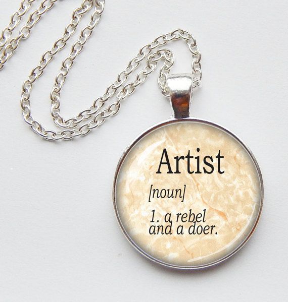 Dictionary Definition Artist  Pendant  Word by FreeLilyDesign