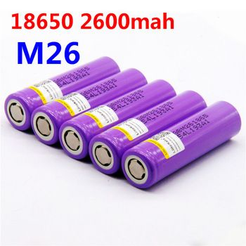 100% original LiitoKala for LG M26 18650 2600mah 10A 2500 li-ion rechargeable battery power safe battery for ecig/scooter   Price: 12.22 USD