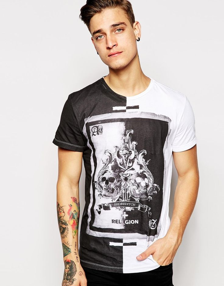 Image 1 ofReligion T-Shirt with Ace of Spades Print