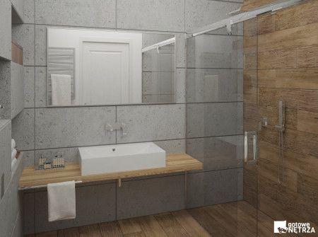 nowoczesna łazienka z betonu architektonicznego