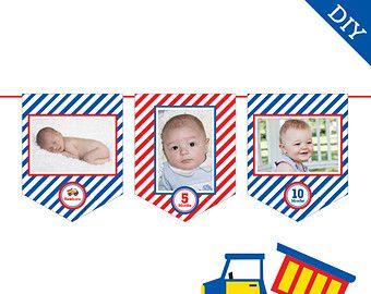 Грузовики партия - DIY печати фото баннер набор - Мгновенная загрузка