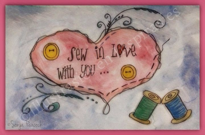 Sew in love with you ... via Sun Art Illustrations