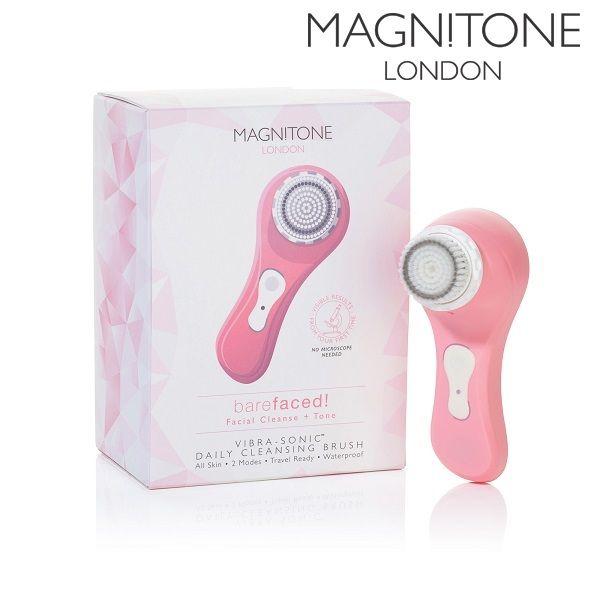 Magnitone Vibrasonic Rensebørste Pink. Effektiv rensebørste til den daglige hudpleje, renser porer, fjerne urenheder, giver huden glød. Green Harmony