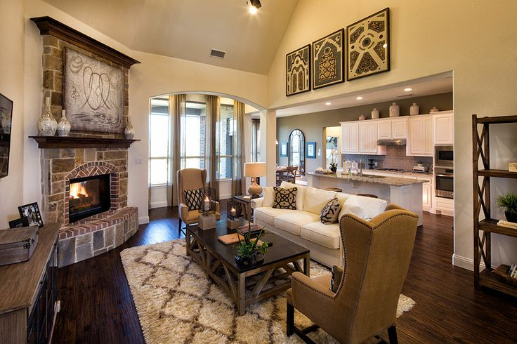 Highland Homes | Harvest 60s | Living Room | Argyle, TX | Plan 245