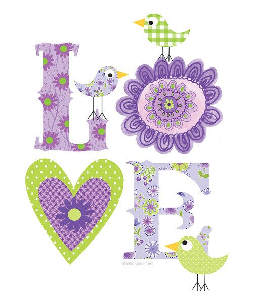 Take a look at this Purple 'Love' Print on zulily today!