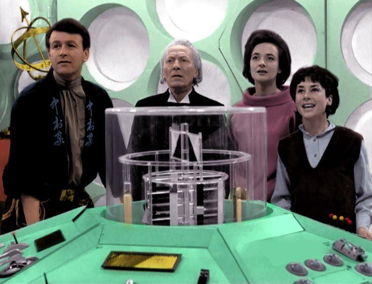 The original TARDIS crew in colour by kingarthurofgeek