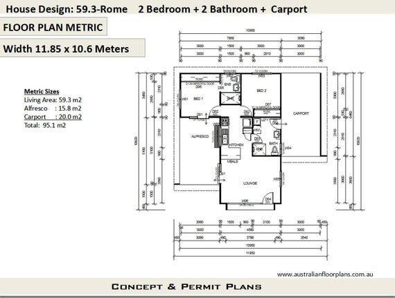 Small House Plan Australia 2 Bedroom 2 Bathroom Small Home Design Livinig Area 368 Sq Feet Or 59 3 M2 Granny Flat Concept Plans For Sale House Plans Australia House Plans Small House Design
