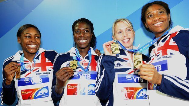 4x400m Women win gold in relay at World Indoors 2012