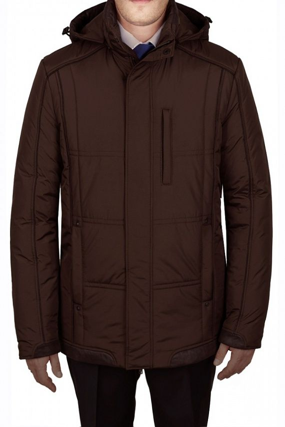 Мужская зимняя куртка BROWN темно-коричневого от Absolutex в интернет-магазине Asobio.ru