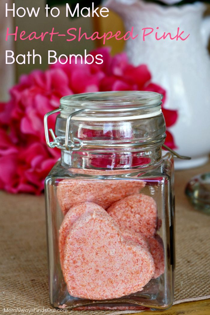 How to make Pink Heart-Shaped Bath Bombs with Pink Himalayan Salts