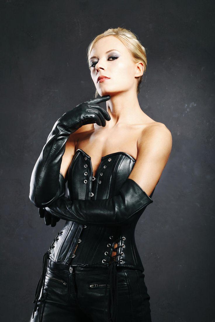 Leather gloves mistress