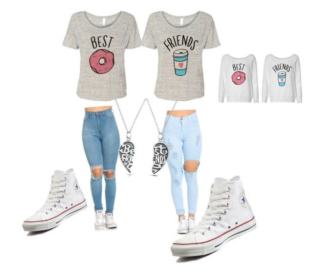 """""""Bff's"""" by meenypie ❤ liked on Polyvore featuring Converse and Bling Jewelry"""