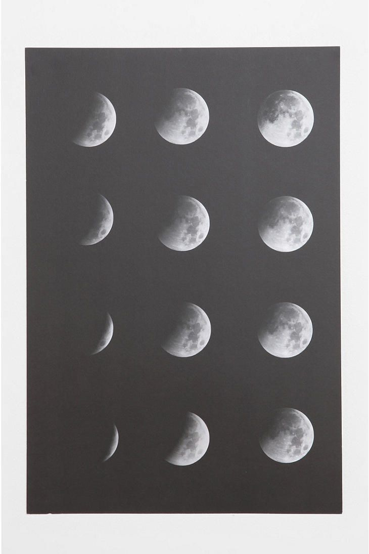 Moon Phase Poster #urbanoutfitters #smallspace