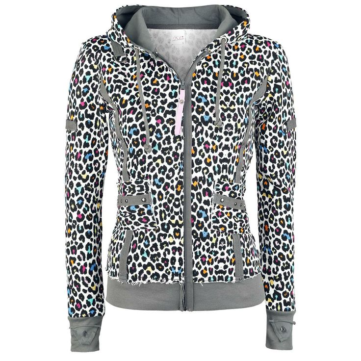 Bonbon Leo Hoodie - Girls hooded zip by Pussy Deluxe - Article Number: 251719 - from 43.99 € - EMP Merchandising ::: The Heavy Metal Mailorder ::: Merchandise Shirts and More